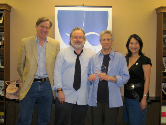 From L to R: Equity President Nick Wyman, American Idiot Producers Tom Hulce and Ira Pittelman and EEO Committee Co-Chair Christine Toy Johnson